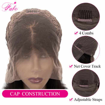 FABC Hair Lace Front Human Hair Wigs 13x4 13x6 inch Brazilian Remy Hair Straight Short Bob Wig Pre Plucked 150% 180% Density