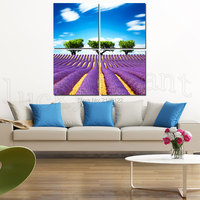 4Pcs Canvas Print Modern Art Framed Lavender  Trees Canvas HD Picture Home Decor Hanging Set Not 3D Embroidery0265