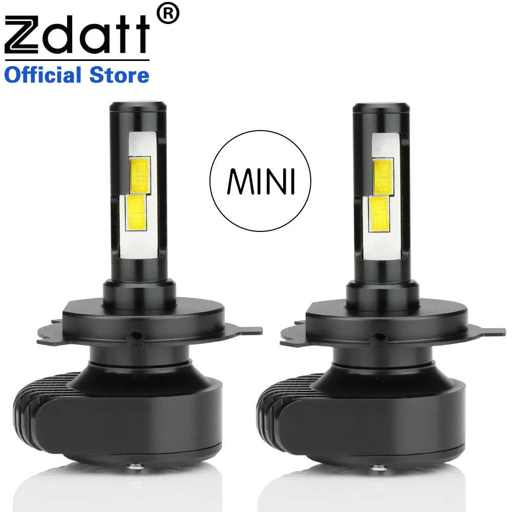 Zdatt H4 Led H11 Headlights Mini Auto CSP Bulb H1 H3 H7 9005 9006 HB3 HB4 80W 8000LM Car Led Light 12V White Automobiles 6000K