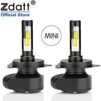 Zdatt Mini Auto Headlight CSP H4 Led Bulb H1 H3 H7 H8 H11 9005 HB3 9006