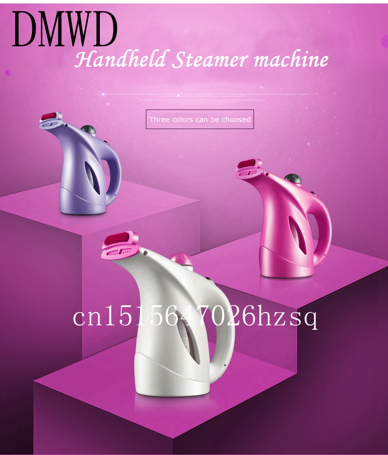 DMWD Portable iron clothes steamer Handheld Garment Steamer Pure steam Mini Clothing Iron Sterilize Dust removal Steaming face portable garment steamer 1000w handheld clothes steam iron machine steam brush mini household ironing for for fabrics clothes