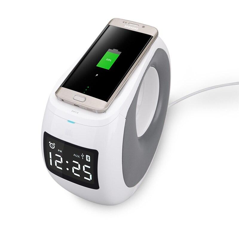 NILLKIN MC1 QI Беспроводной Зарядное устройство Bluetooth Динамик музыка Динамик для Samsung Galaxy Note 8 S8 СПС iPhone X Беспроводной Зарядное устройство