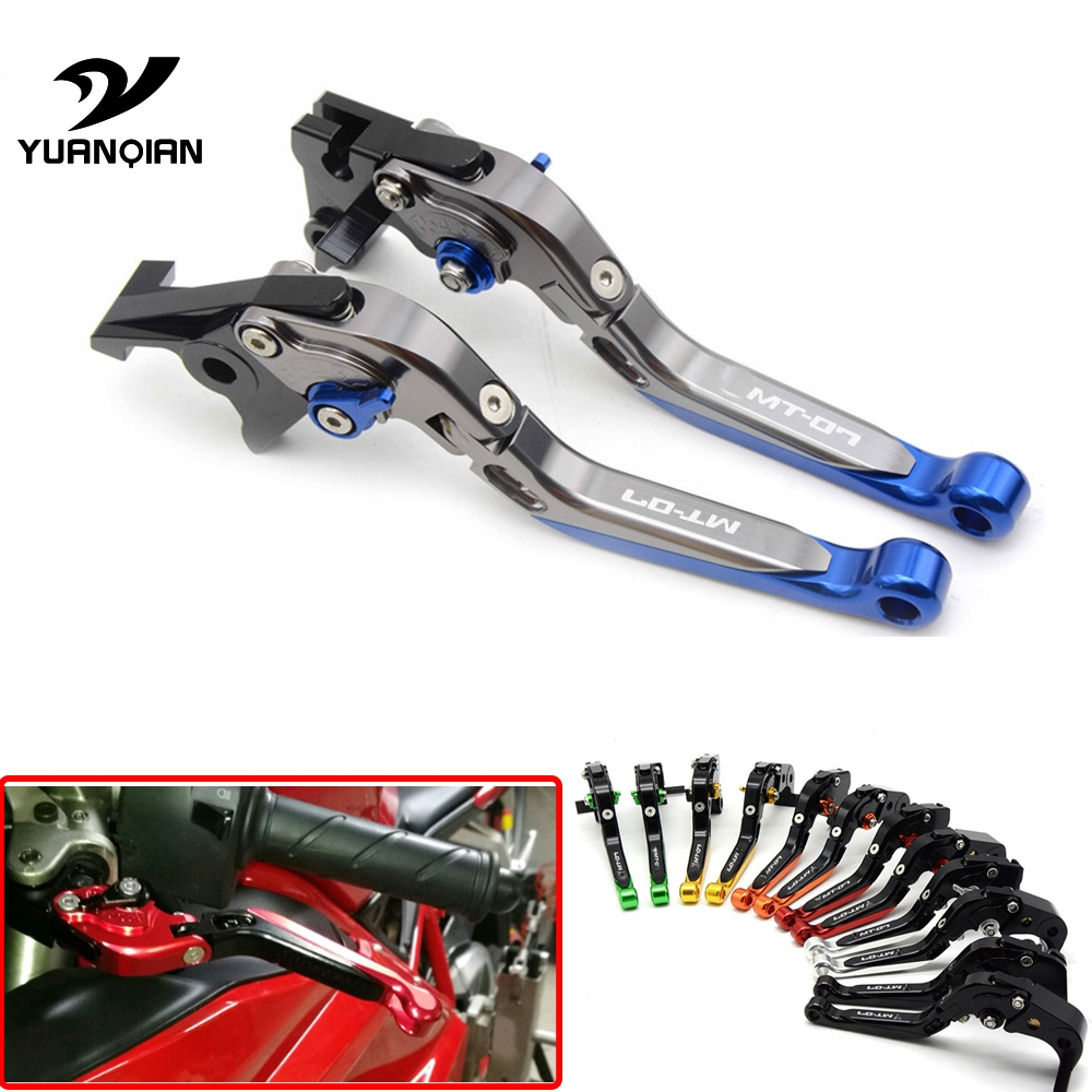 With MT-07 Logo Motorcycle Folding adjustable Black Brake Clutch Levers For Yamaha MT07 MT 07 FZ 07 FZ07 FZ-07 2014 2015 2016 for yamaha mt 09 mt 09 tracer 2014 2015 motorcycle adjustable folding extendable brake clutch levers fz 09 mt 09 sr not fj 09