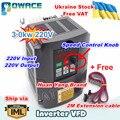 [Oekraïne Koop!] 3KW 220V HY Frequentieregelaar VFD Omvormer 4HP Uitgang 3 Fase 13A + 2M Verlengkabel