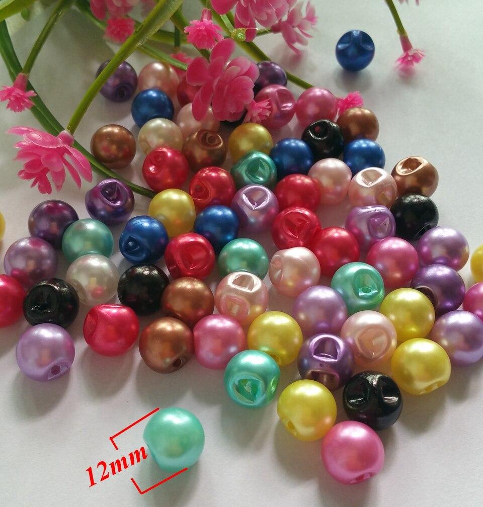 150Pcs/lot Hot Sale 12 color Plastic ABS side hole Buttons Scrapbooking 12mm Decorative Buttons Apparel Sewing