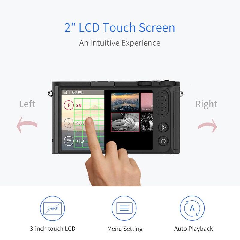 YI M1 appareil photo numérique sans miroir objectif Zoom principal LCD Version internationale minimaliste 20MP enregistreur vidéo 720RGB caméra numérique - 3