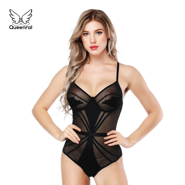 6bdf501993 Corset Bodysuit Sexy Lingerie Shaper Black Sling Lace Bustier Women  Slimming Underwear Breathable High Elasticity Body Shapewear