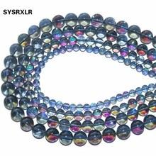 цены на Wholesale Aaa + Natural Gray Crystal Of Rock Quartz Stone Beads For Jewelry Making Diy Bracelet Necklace  6 / 8 / 10 / 12 MM  в интернет-магазинах