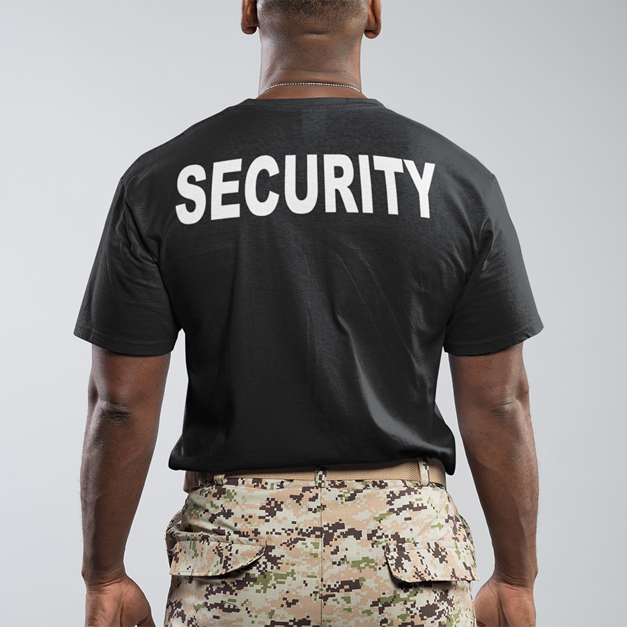 Security T Shirt Cool Uniform High Quality Mind Humor T-shirt Male 100% Cotton O-Neck EU Size Summer Tops Tee