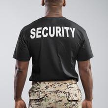 Security T Shirt Men Funny Uniform High Quality Humor T-shirt Male 100% Cotton O-Neck EU Size Summer Tops Tee