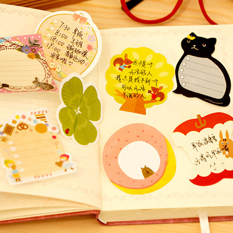 Cartoon Forest animal Series Notepad/ memo pads/ sticky note /label /message post marker / note paper Stationery Prize Gift