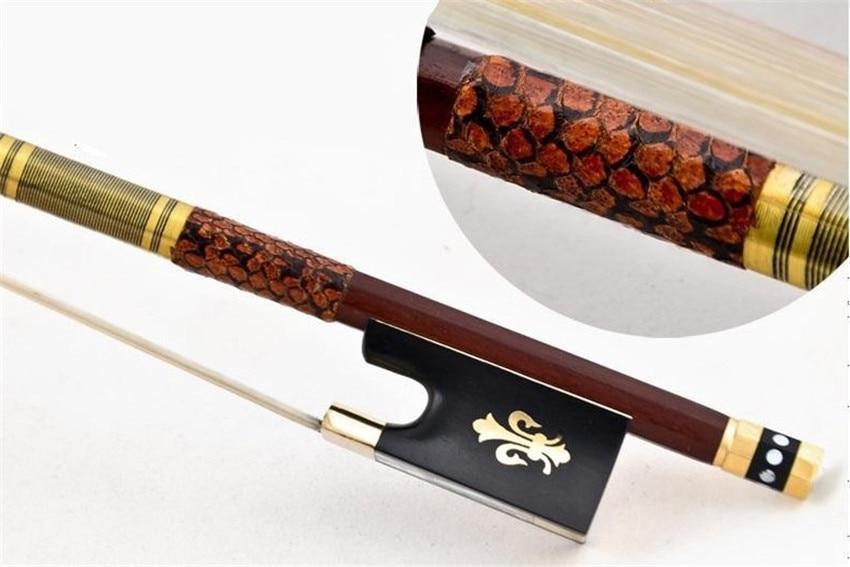 고품질 바이올린 활 크기 4/4 바이올린 brazilwood 나무 보우 말 헤어 바이올린 액세서리 활 액세서리 파라 비올라