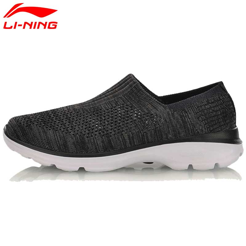 Li-Ning Women's Easy Walker Walking Shoes Textile Breathable Sneakers Light Fitness LiNing Sport Shoes AGCM112 YXB048
