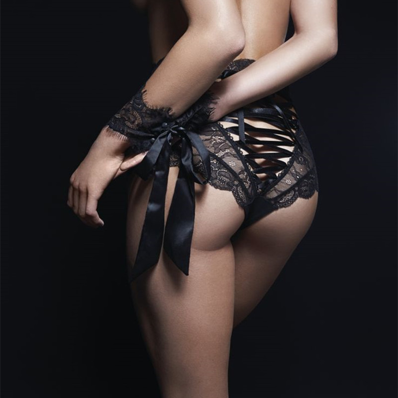Sexy   Panties   Women High Waist Lace Thongs and G Strings Underwear Ladies Hollow Out Underpants Erotic Imitation Lingerie