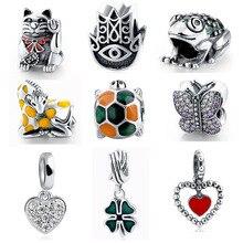 MANBU 2017 New Silver Beads Fit Charm Pandora Bracelets 925 Original Daisy Charms For Women Jewelry Berloque