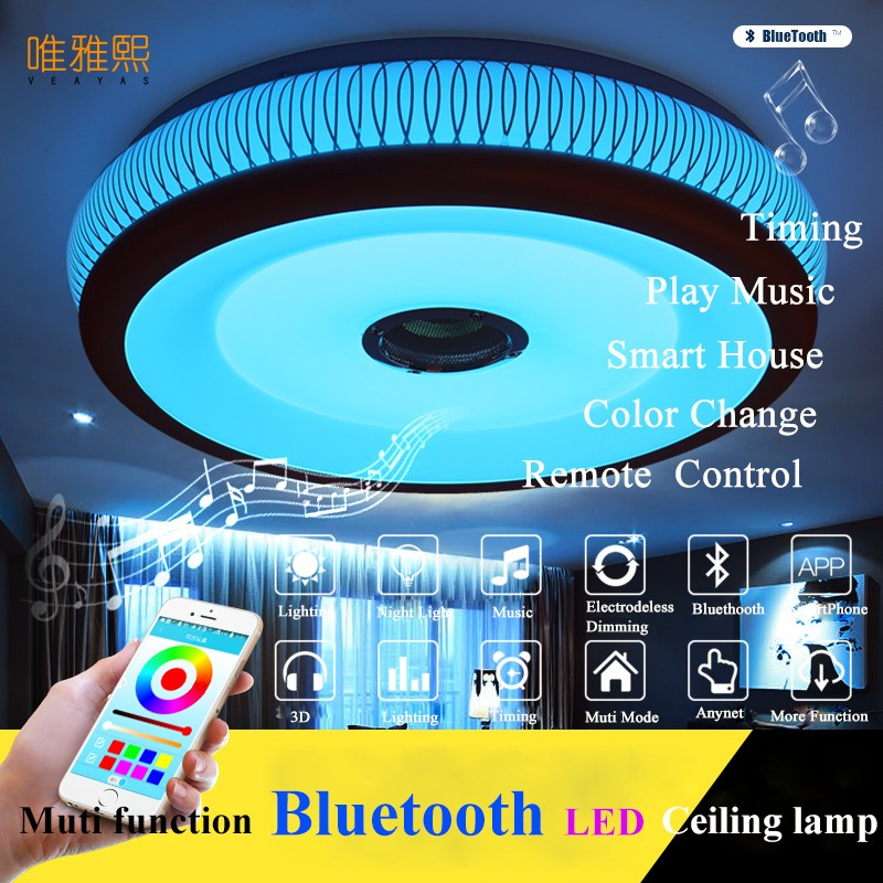 Modern Led Ceiling Lights For Indoor Lighting  led  bluetooth music  Ceiling Lamp Fixture For Living Room Bedroom LamModern Led Ceiling Lights For Indoor Lighting  led  bluetooth music  Ceiling Lamp Fixture For Living Room Bedroom Lam