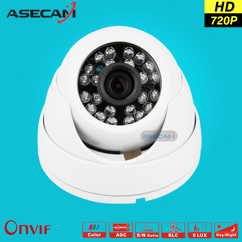 HD 720P IP Camera H.264 Onvif White Indoor Dome WebCam CCTV Infrared Night Vision Security Network Smart home Surveillance poe poe hd 960p onvif h 264 p2p onvif security monitoring network ip camera infrared night vision outdoor waterproof security