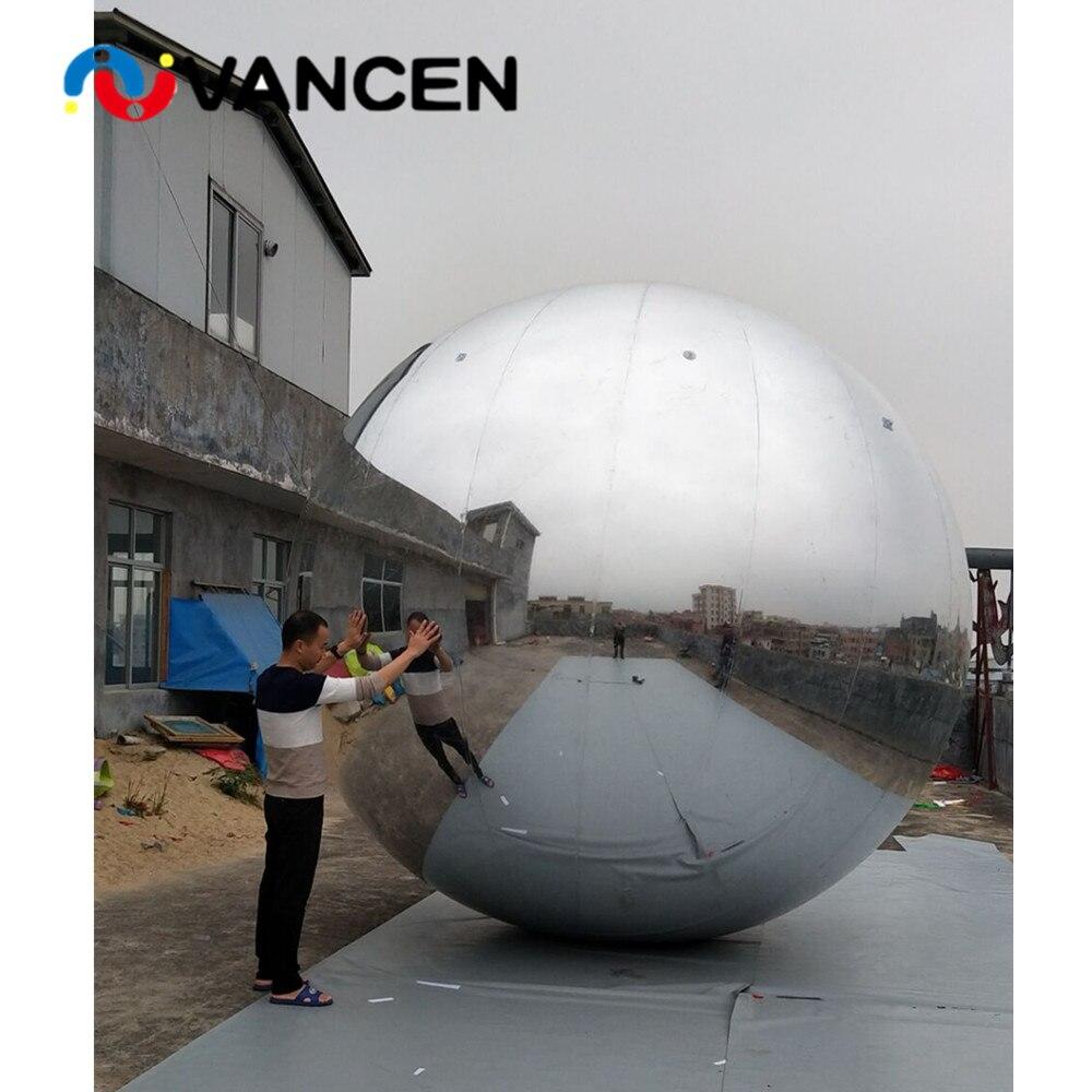Nastro molti formato gonfiabile mirror ball decorazione di pubblicità di alta qualità pvc gonfiabile palla a specchio per la vendita - 4