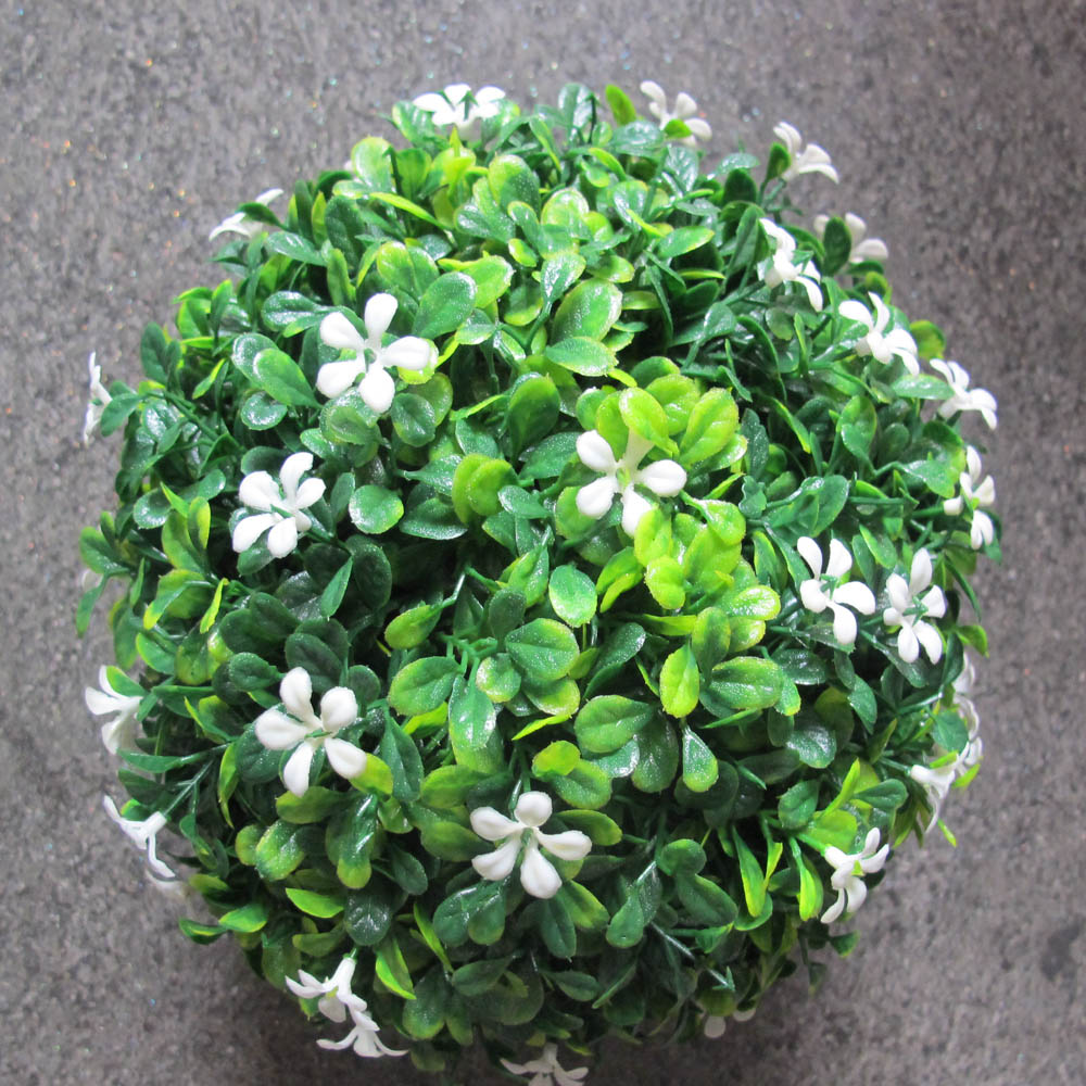 Hot Wholesaleretail Artificial Topiary Boxwood Ball With White