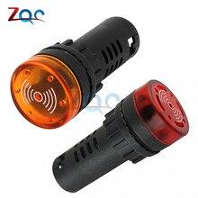 AD16-22SM светодиодный сигнальный сигнал, сигнальная светового Индикатора, мигающий зуммер постоянного тока 12 В 24 В переменного тока 110 В 220 В 22 мм