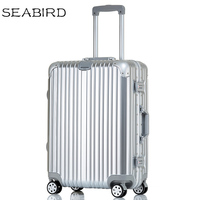 SEABIRD 2022242629 inch Aluminum frame travel luggage carry on box pull rod suitcase trolley suitcase rolling luggage