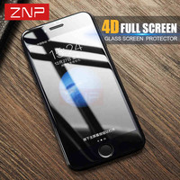 ZNP 4D high quality Tempered Glass for Apple iphone 6 6s plus 4D Curved Premium Screen Protector Film for iPhone 6S 6 plus