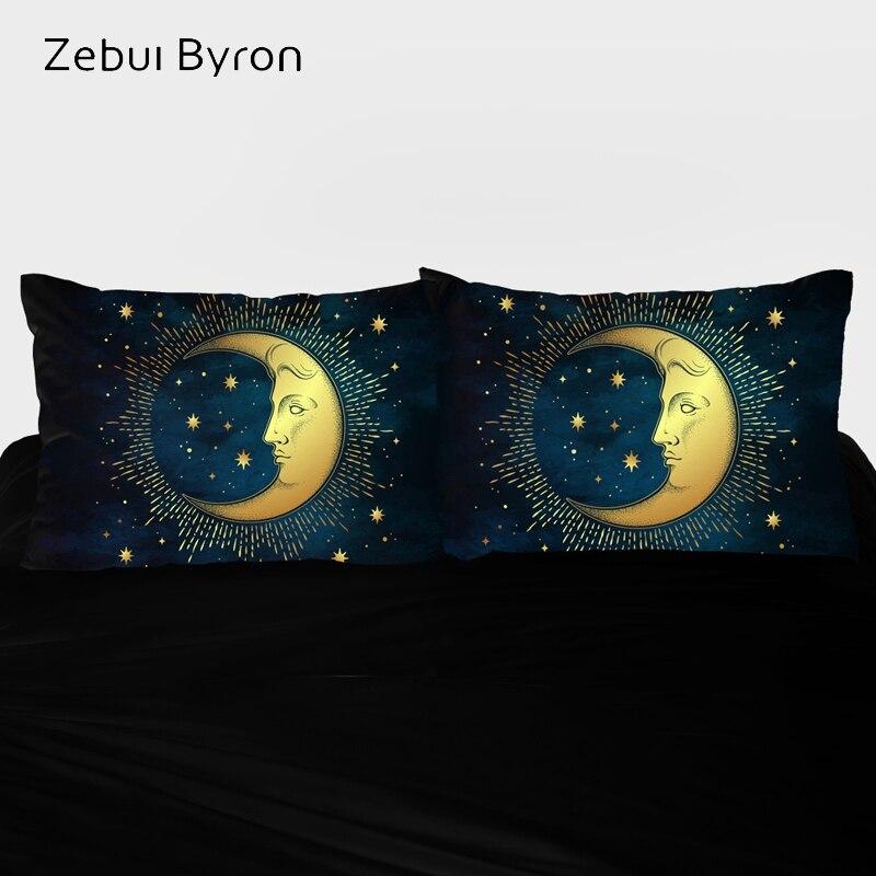3D HD Pillow Case Custom design,2PCS Pillowcase,Decorative Pillow Cover 45x45/50x70/50x75/50x80,moon Bedding Drop ship