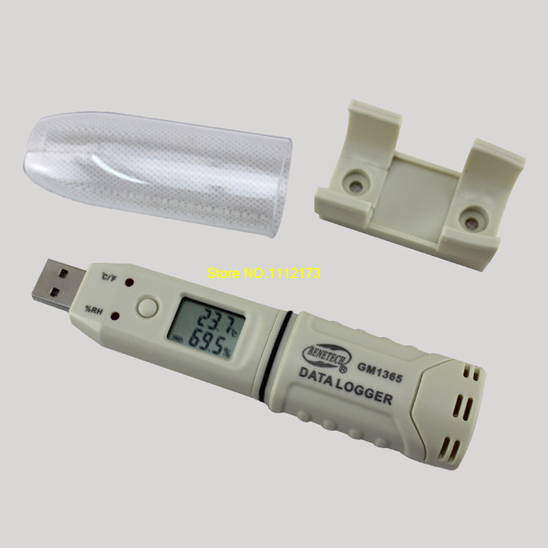 BENETECH GM1365 humidity temperature meter Digital Temperature and humidity recorder USB flash disk Pen type thermometer sauna accessories stainless steel and plastic temperature and humidity thermometer