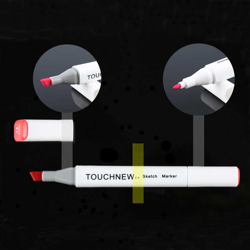 TouchNew 168 ألوان رسم قلم تحديد الرسوم المتحركة رسم علامات مجموعة للفنان مانغا الرسم الكحول أساس علامات