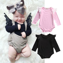 Cute Baby Girl Jumpsuit Fashion Toddler Long Sleeves Bodysuit Kids Autumn Clothes Outfit Pink Infant Playsuit