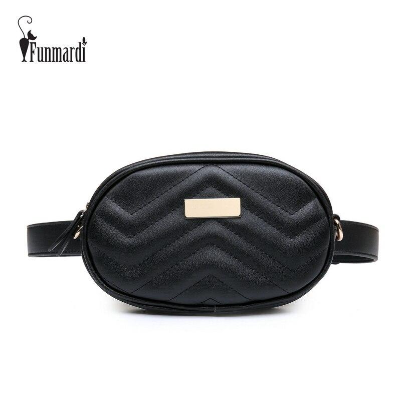 FUNMARDI PU En Cuir Taille Sac Femelle Nouvelle Mode Taille Packs Trendy Femmes Fanny Pack Sac de Ceinture de Marque de Sac D'épaule des Femmes WLHB1744
