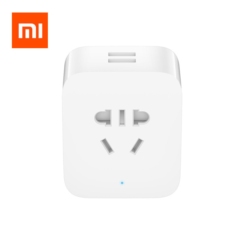 Original Xiaomi Mijia Smart Mi Basic Socket Update Version, With 2 USB Interface / BC1.2 Fast Charge For Xiaomi Smart Home Kits