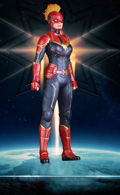 CAPTAIN MARVEL CRAZY TOYS 1//6TH SCALE COLLECTIBLE PVC FIGURE STATUE NEW IN BOX