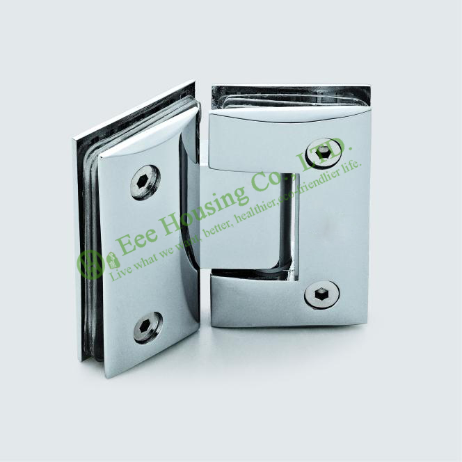 Glass clips,Stainless Steel 135 degree Shower Door Hinge,Mirror finished Glass To Glass Bathroom Glass clamp 1 pair 4 inch furniture hinge stainless steel hinge door hinge satin finish lash hinge