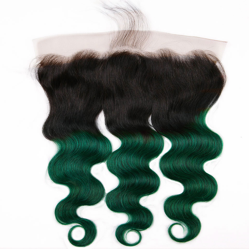 teal body wave hair bundles with closure (4)