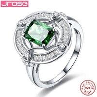 Jrose Vintage 925 Sterling Silber Ringe 2.31ct Grün Ring für frauen Hochzeit Schmuck Größe 6 7 8 9 Freies Verschiffen großhandel