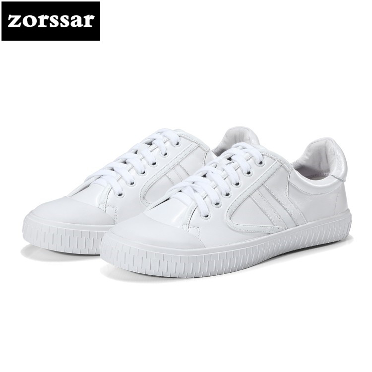 {Zorssar} 2018 New Genuine Cow Leather Flat Shoes Women Sneakers Footwear High Quality Comfortable Women Flats Casual Shoes women s shoes 2017 summer new fashion footwear women s air network flat shoes breathable comfortable casual shoes jdt103