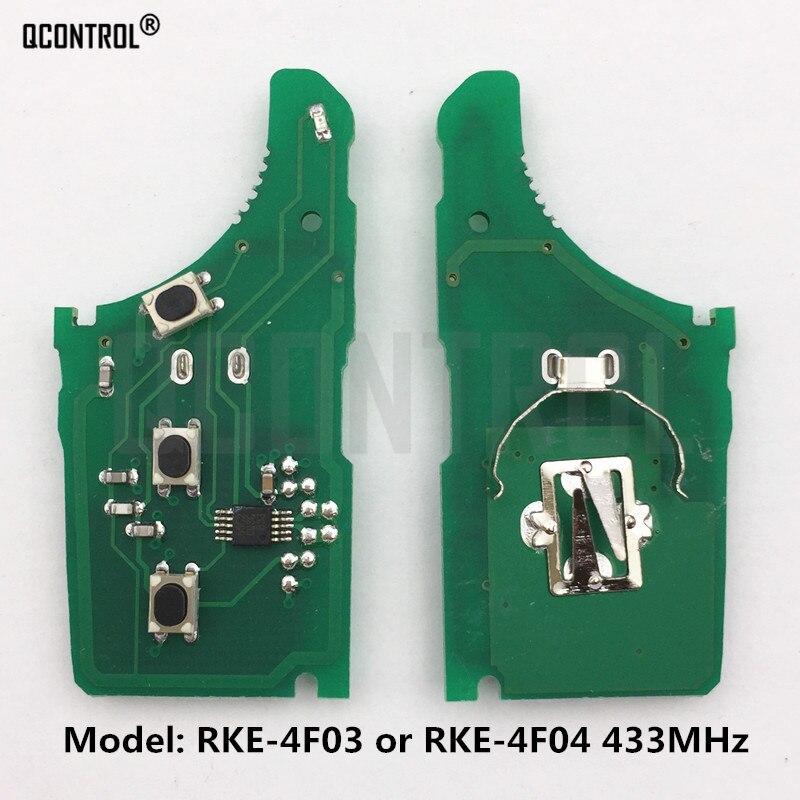 QCONTROL Car Remote Control Key Electronic Circuit Board For KIA RKE-4F03 Or RKE-4F04 CE 433-EU-TP 433MHz Vehicle Alarm