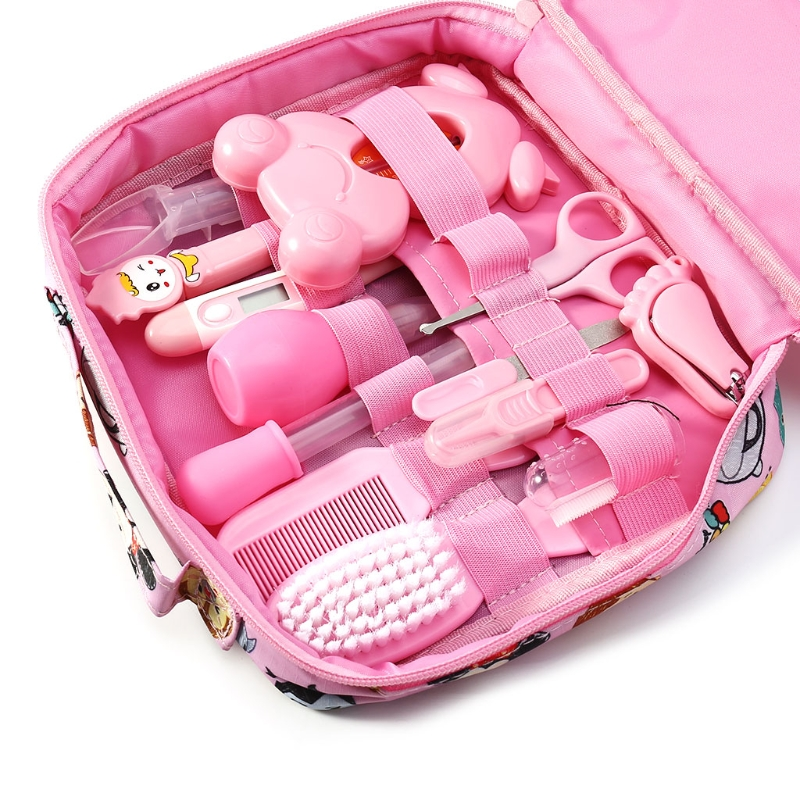 13pcs/Set Newborn Baby Kids Nail Hair Health Care Thermometer Grooming Brush Kit