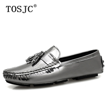 TOSJC Stylish Mens Tassel Loafers Comfort Patent Leather Moccasins Boat Shoes Casual Breathable Slip on Driving Shoes Big Size47 tosjc 2