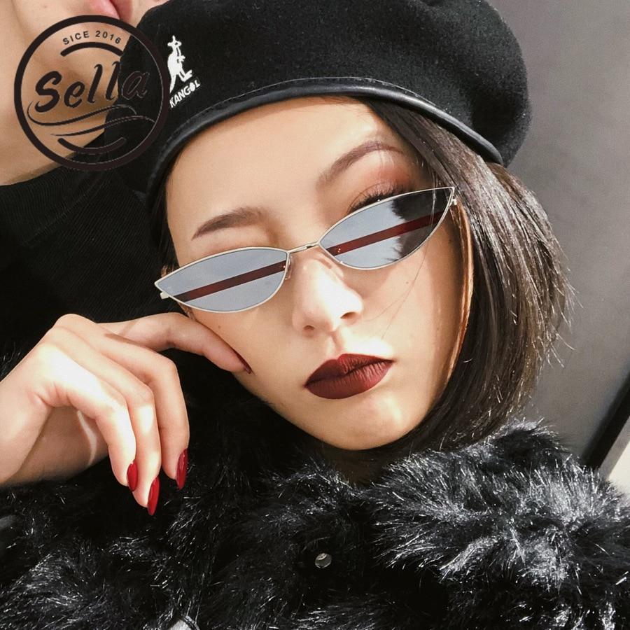 Sella 2018 Fashion INS Hot Trending Small Alloy Frame Double Color Mirror Lens Sunglasses Popular Women Men Vintage Eye Glasses