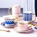 Костяной фарфор британская королевская кофейная чашка керамическая чайная чашка блюдце ложка в наборе креативный фарфоровый для эспрессо ...