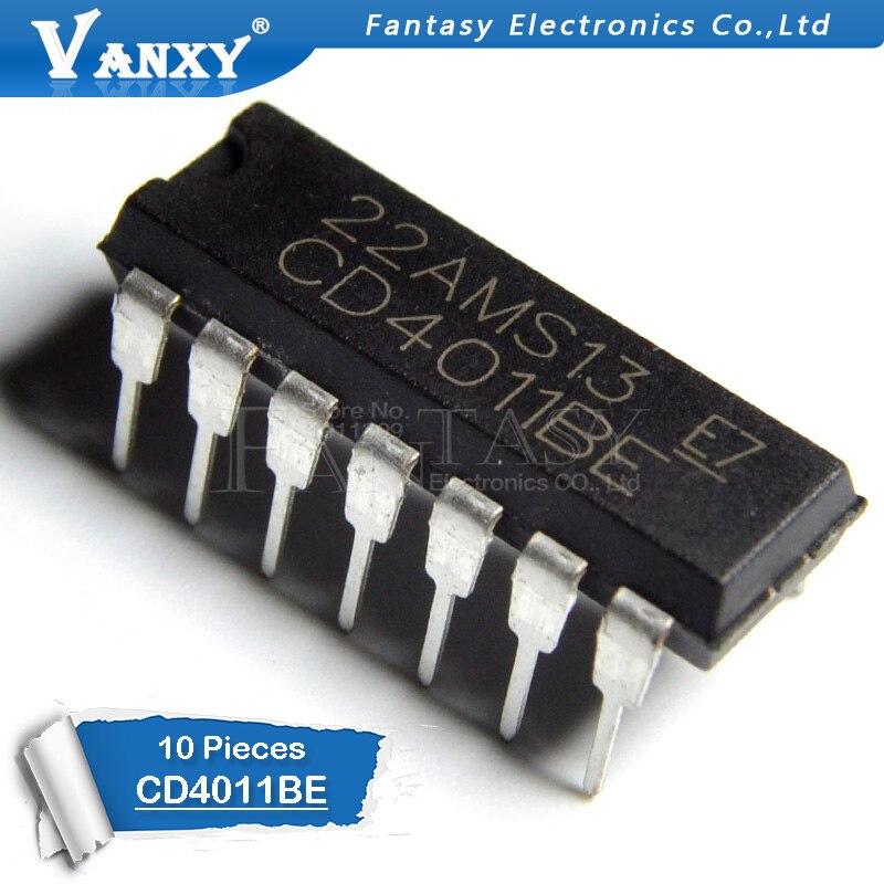 10PCS CD4011BE DIP14 CD4011 DIP 4011BE DIP-14 New And Original IC