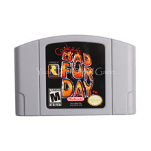 Nintendo N64 Игры Картридж Консоли Карты Conker's Bad Fur Day Английский Язык Версия для США