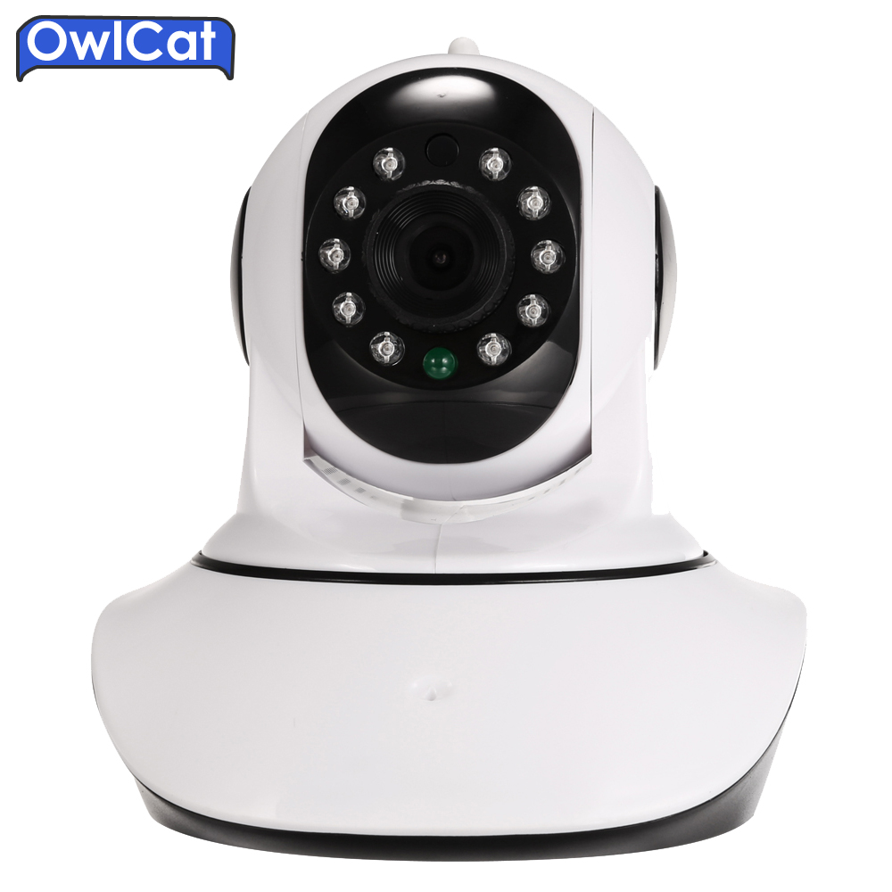 цена на OwlCat Dome HD 720P Security CCTV Wireless IP Camera Wifi Pan/Tilt IR cut Onvif Night Vision Micro SD Card Two Way Audio talk