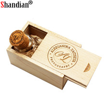 SHANDIAN Glass Bottle with Cork USB Flash Drive 4GB 8GB 16GB 32GB