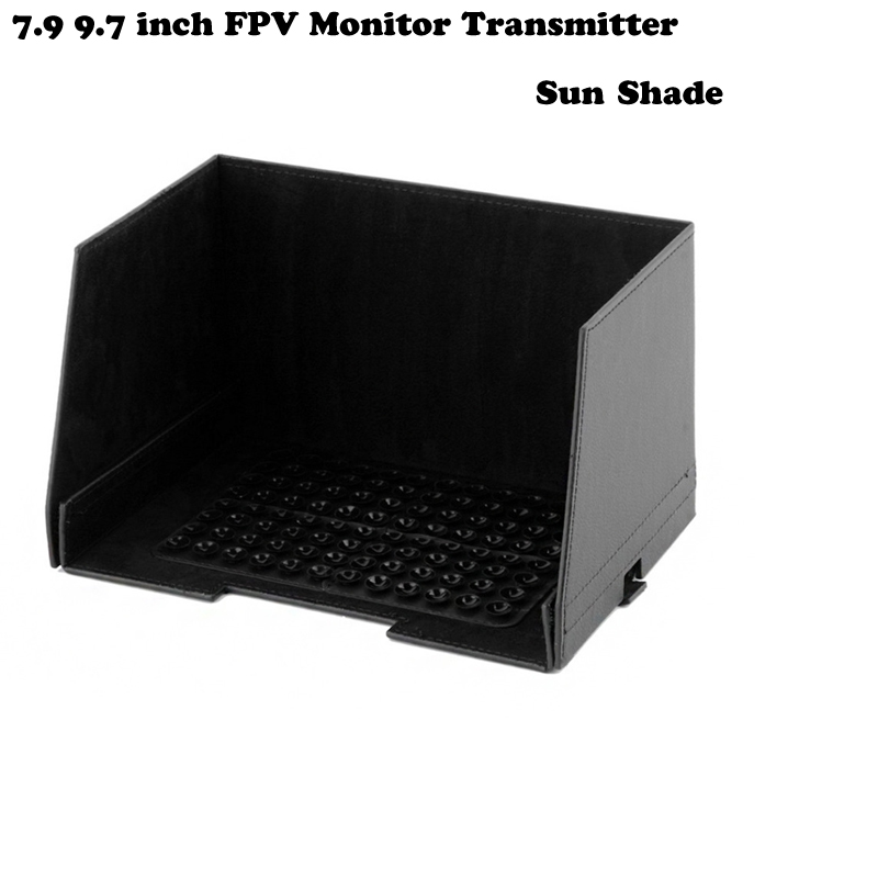 7.9 9.7 inch FPV Monitor Transmitter Sun Shade Sun Hood For iPad For FPV 250 Quadcopter Advanced Black/white Color 1 pc phone hood monitor hood for rc monitor drone phone shading sun accessories