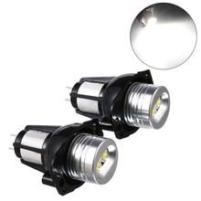 Car Light 2 PCS E90 Angel Eyes Halo Ring LED Light 6W Marker Bulb Xenon White for BMW F16