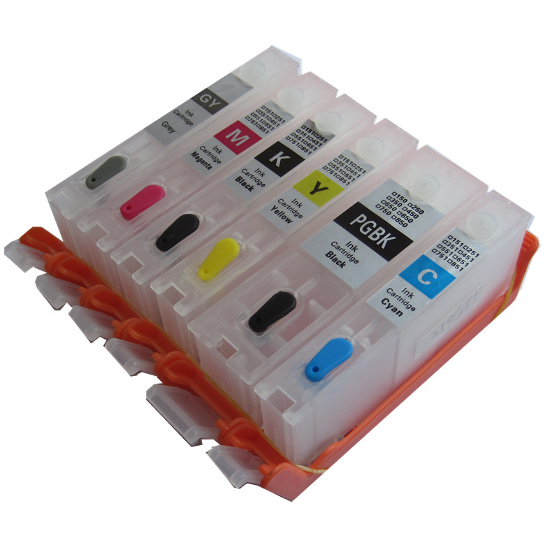 6 color PGI-270 CLI-270 pgi270bk cli-271 refillable ink cartridge empty with chip for canon PIXMA MG7720 TS9020 TS8020 printer 1set 5pcs pgi 670 cli 671 empty refillable ink cartridges for canon pgi670 cli671 pixma mg5760 mg7760 mg6860