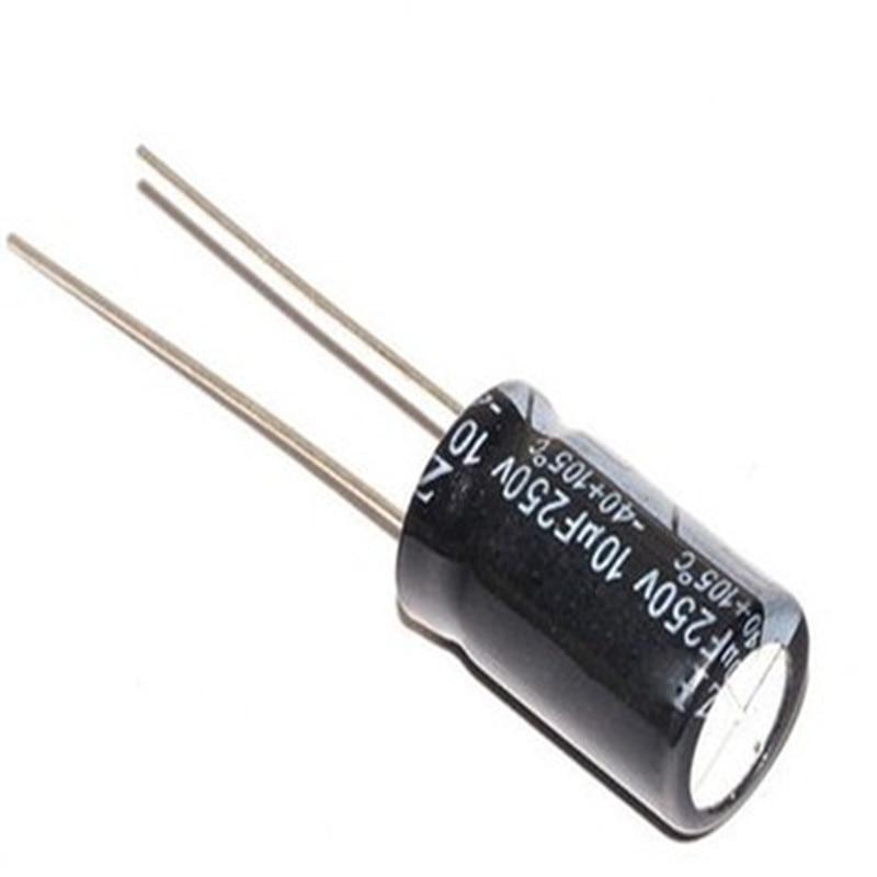 20pcs Aluminum Electrolytic Capacitor 10uF 250V 10*13 Electrolytic Capacitor